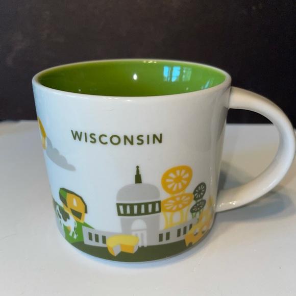 Starbucks Wisconsin You Are Here Mug, EUC